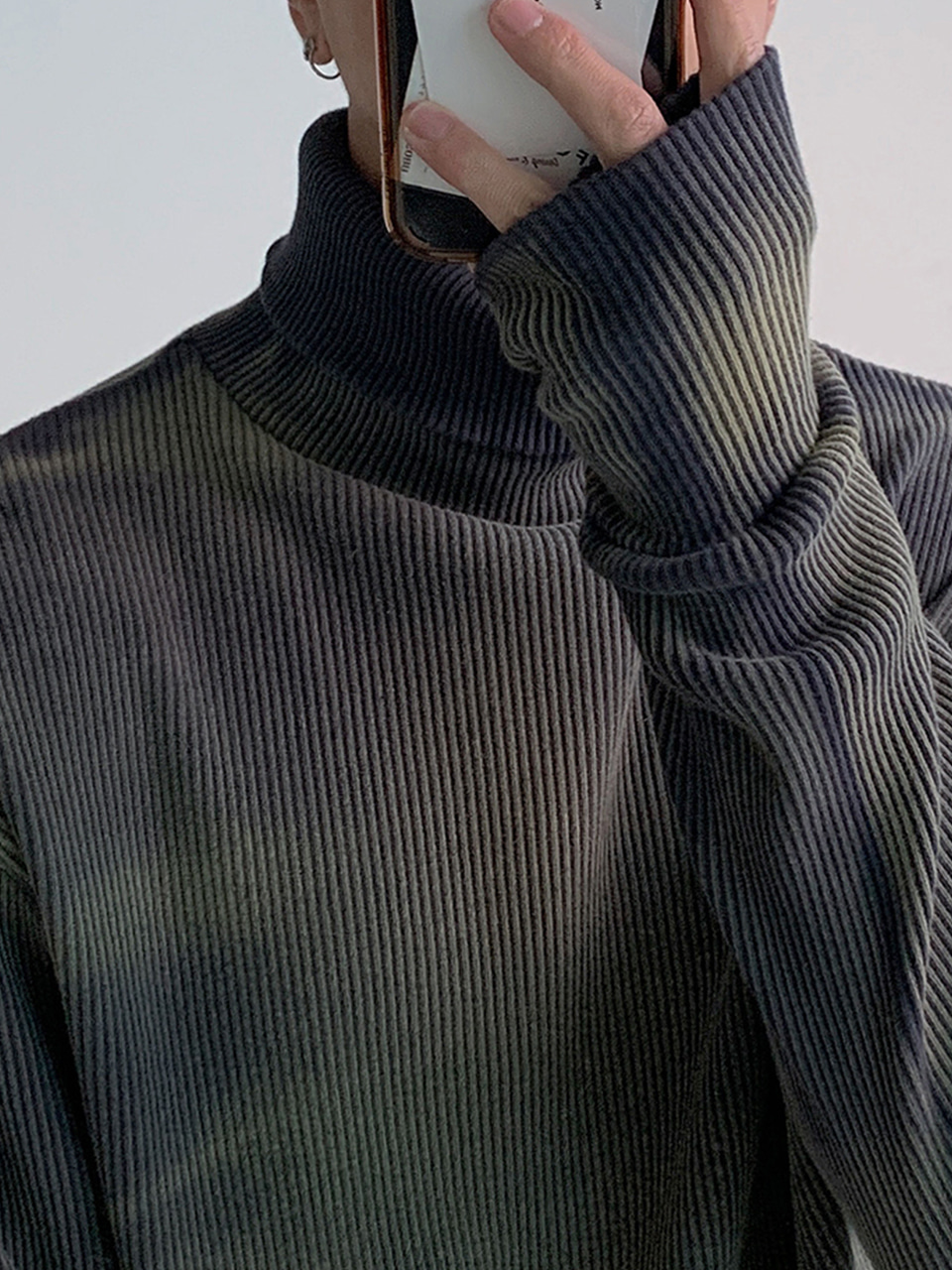 Matthew Washed Turtleneck Warmer Knit (2color)