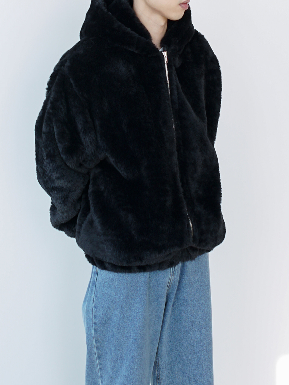 Stella Fur Zip Up Hoodie (2color)