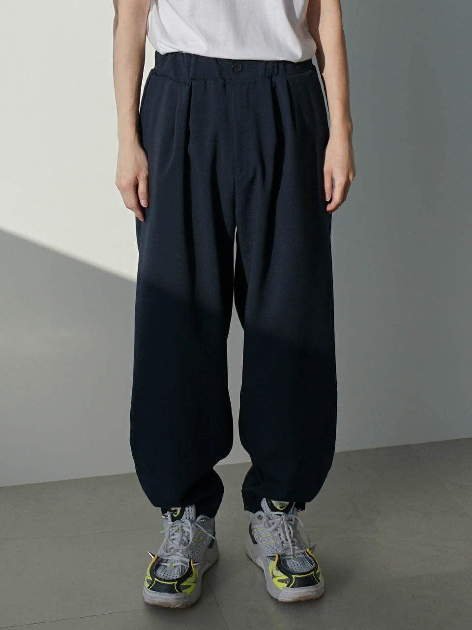 Grant Pintuck Folded Trousers (2color)