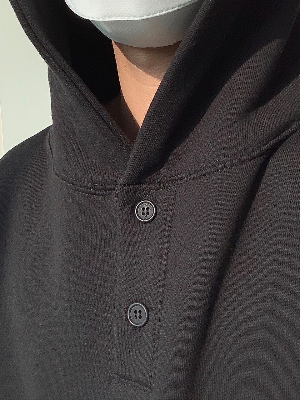 Brown Button Down Over Hoodie (3color)
