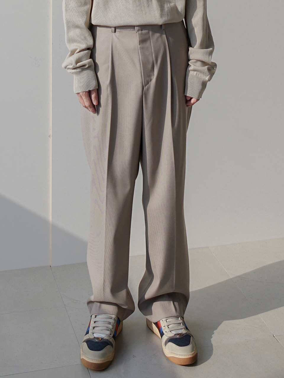 Alan Pintuck Semi Wide Trousers (3color)