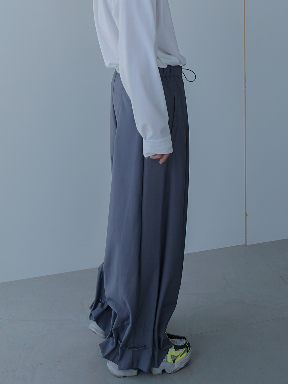 Kate Wide Trousers With String (2color)