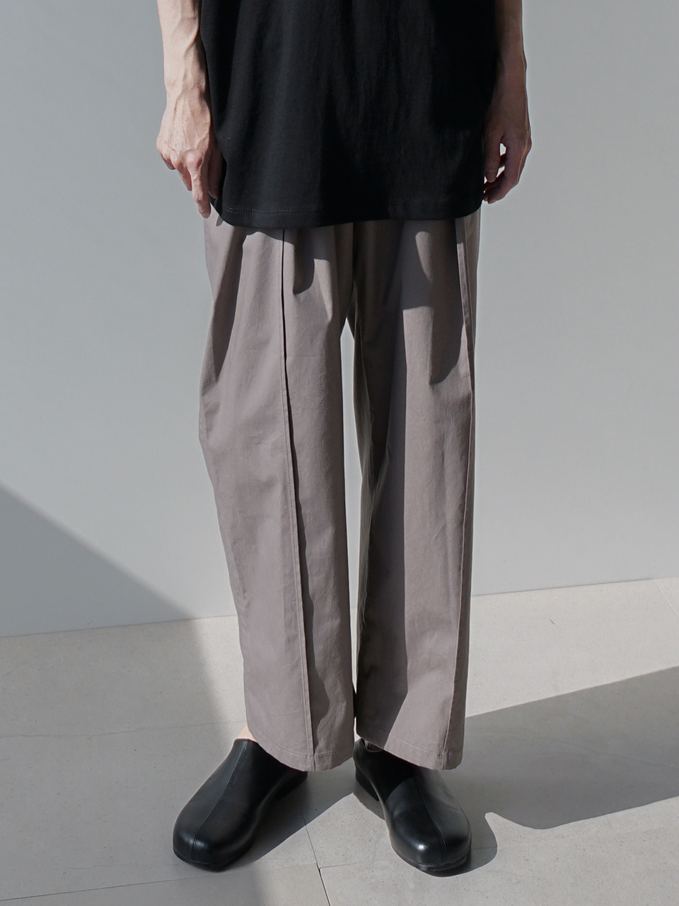 Conor Cropped Wide Trousers (3color)