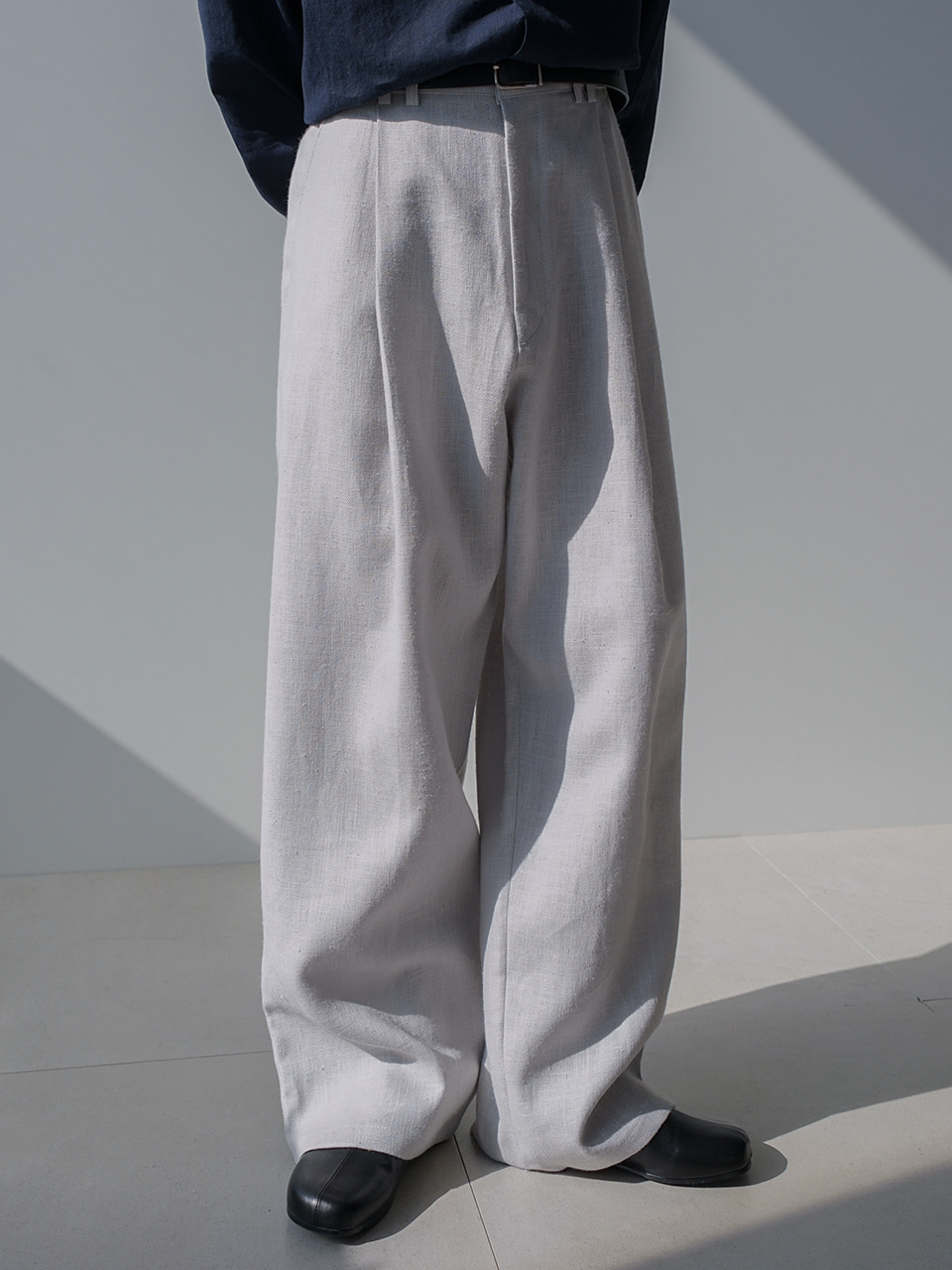 Madison Pintuck Linen Wide Trousers (2color)