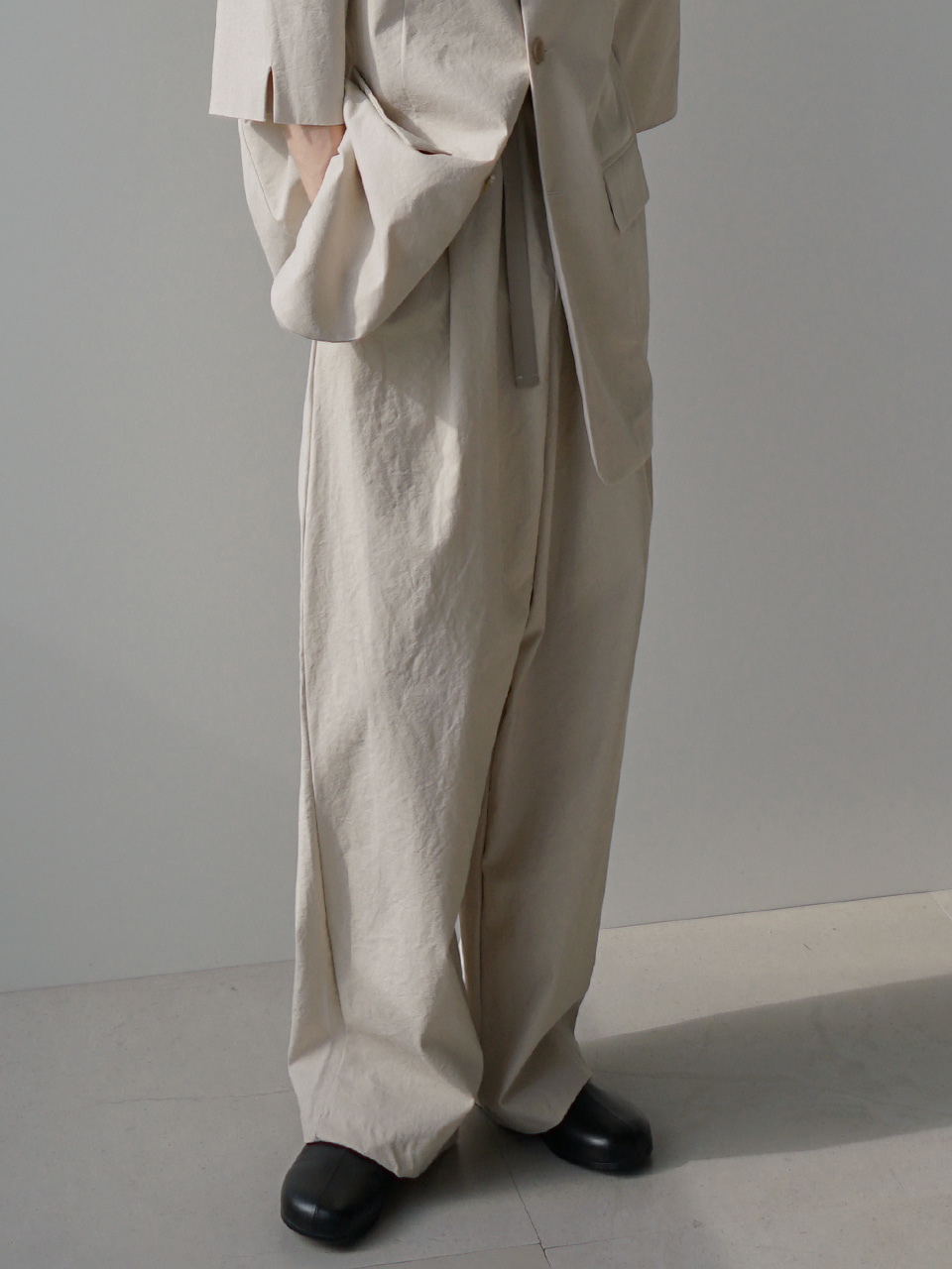 Sanders Linen Wide Trousers (2color)