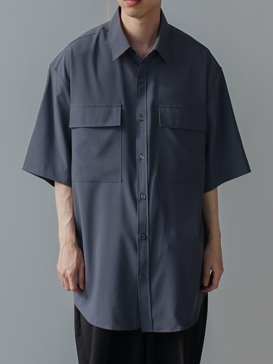 Close Pocket Half Shirt (4color)