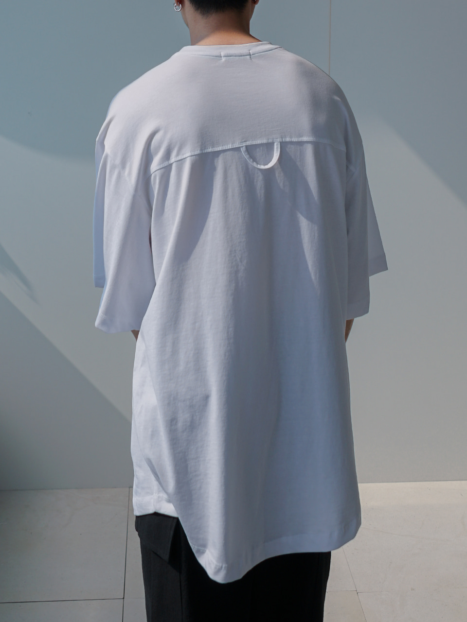 Month Oversized Half Tee With Loop (3color)