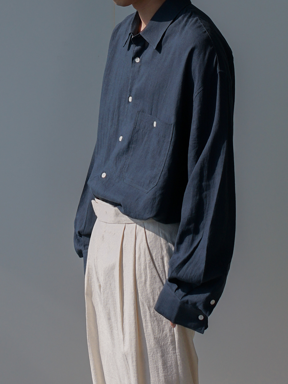 James Oversized Linen Shirt (7color)