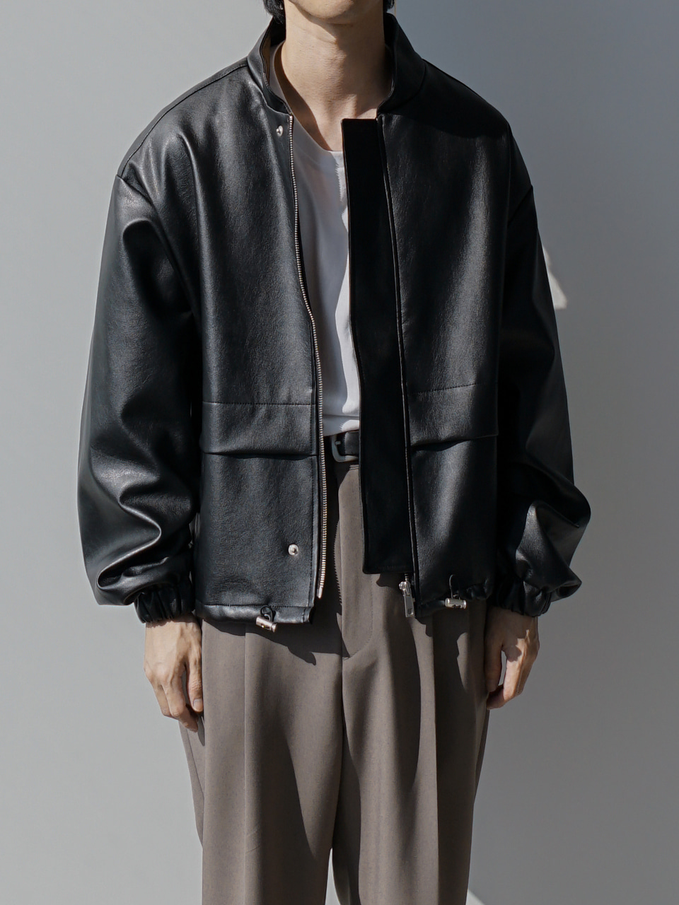 Chris Leather Blouson Jacket