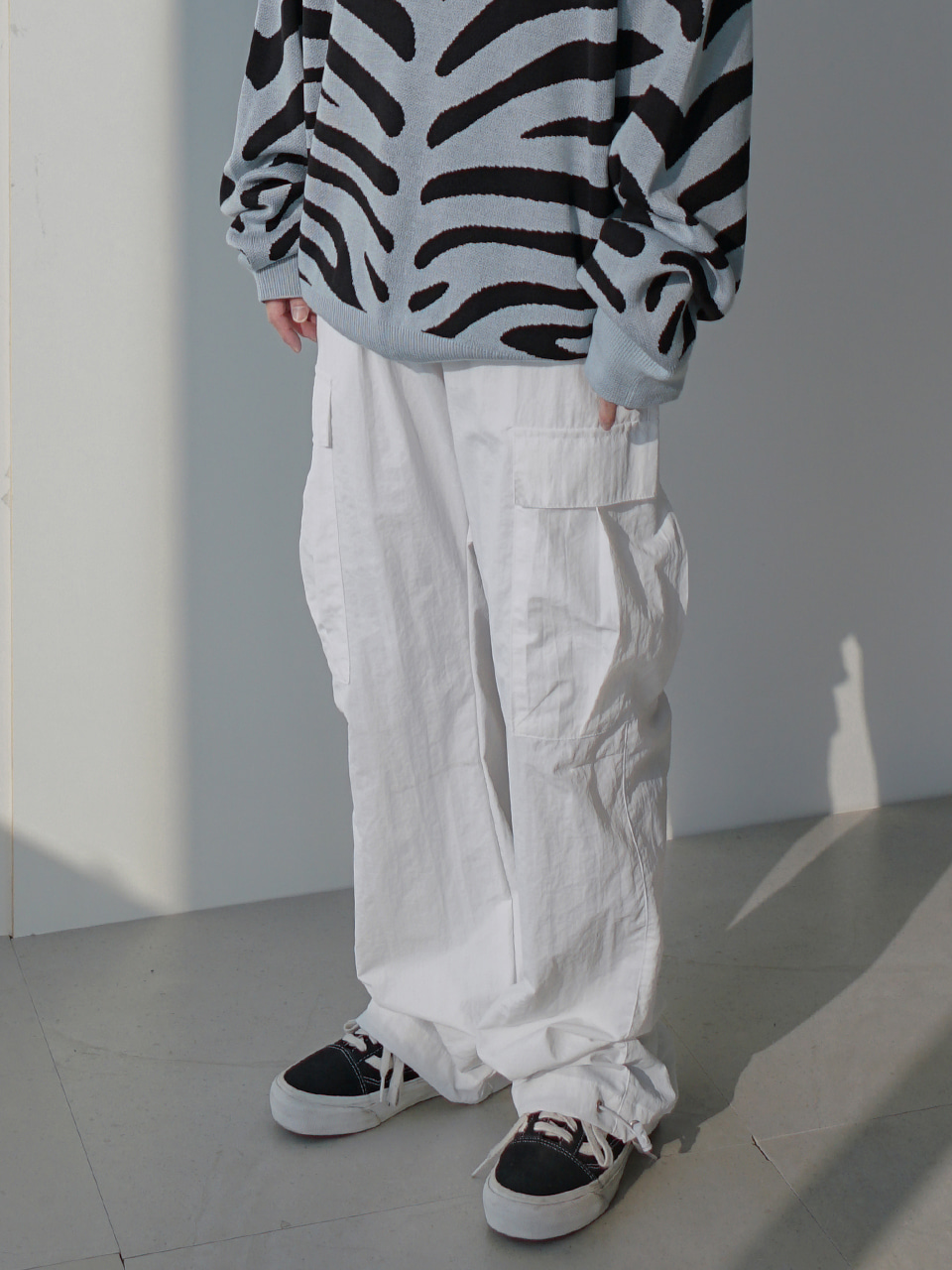 Drain Cargo String Pants (2color)