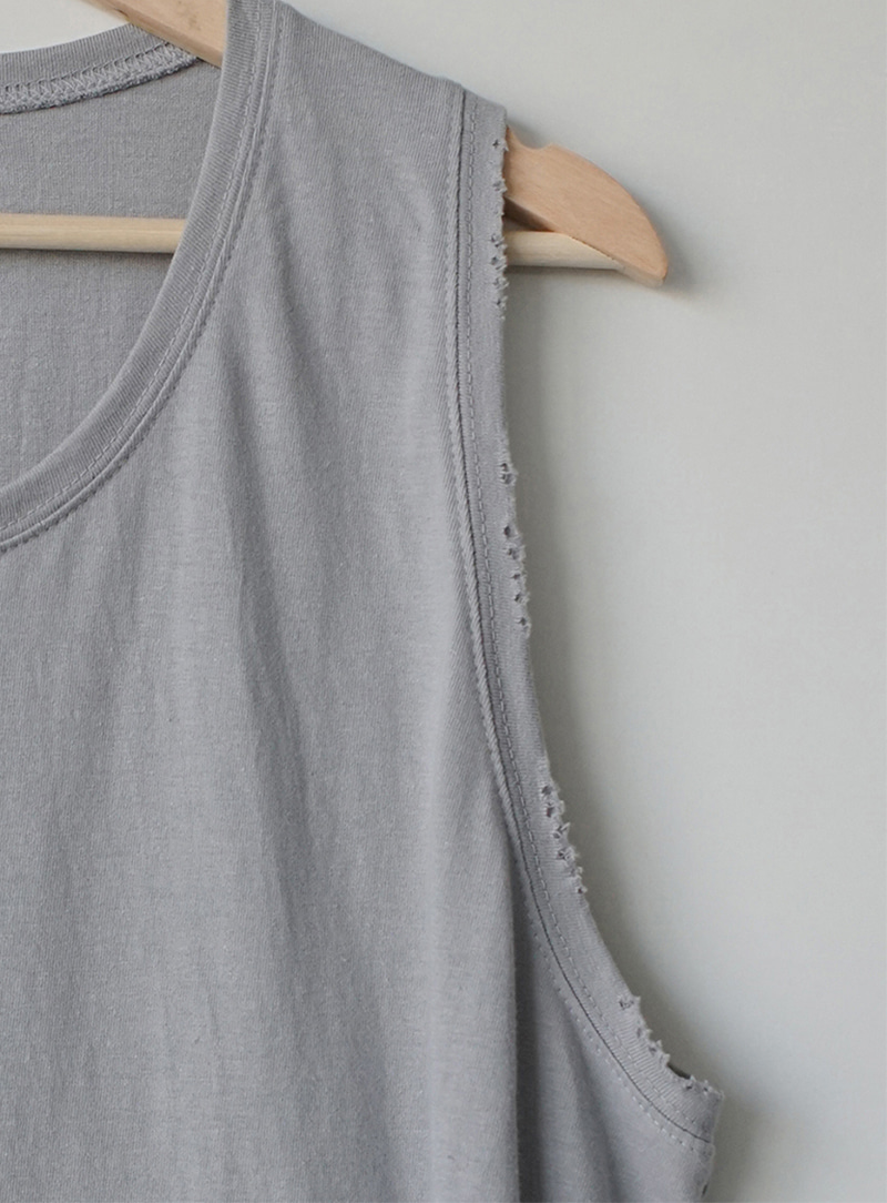 Damage Washed Sleeveless Tee (7color)