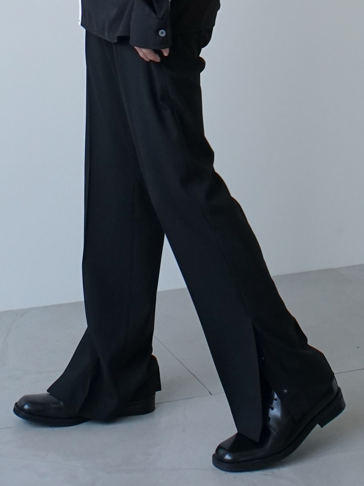 Shine Ankle Snap Trousers (3color)