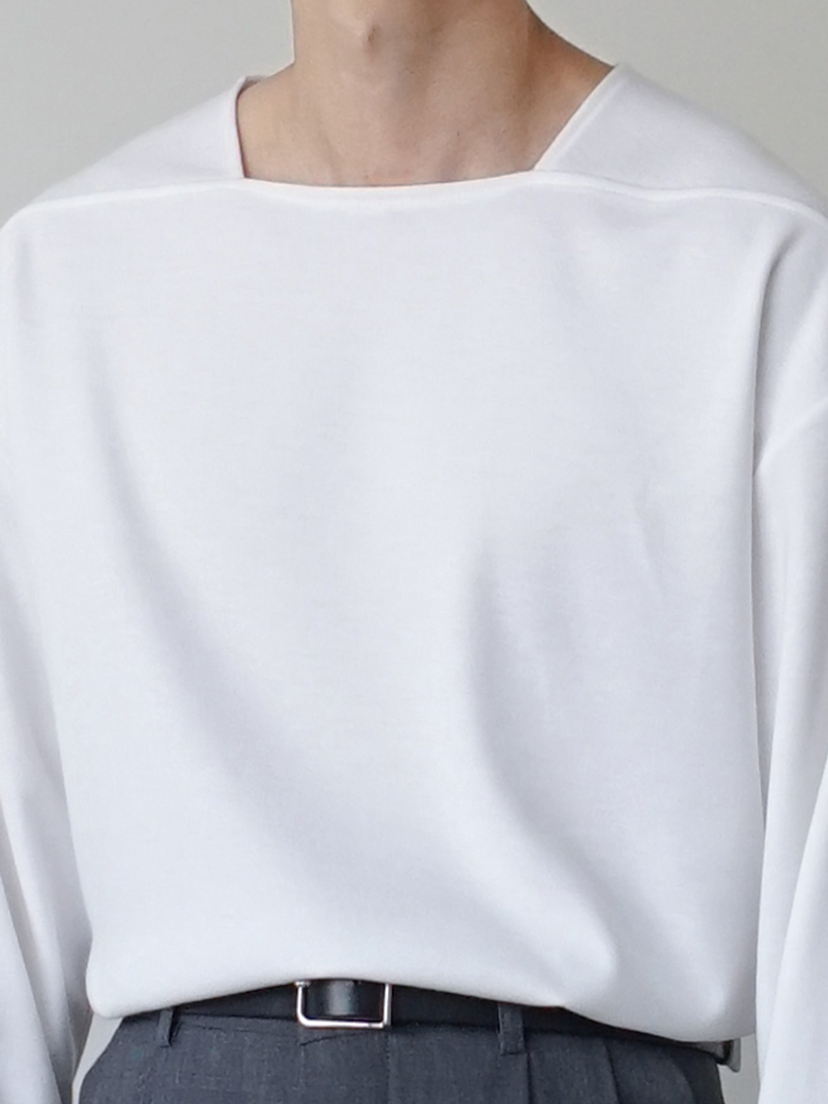 Basic Square Neck Tee (4color)