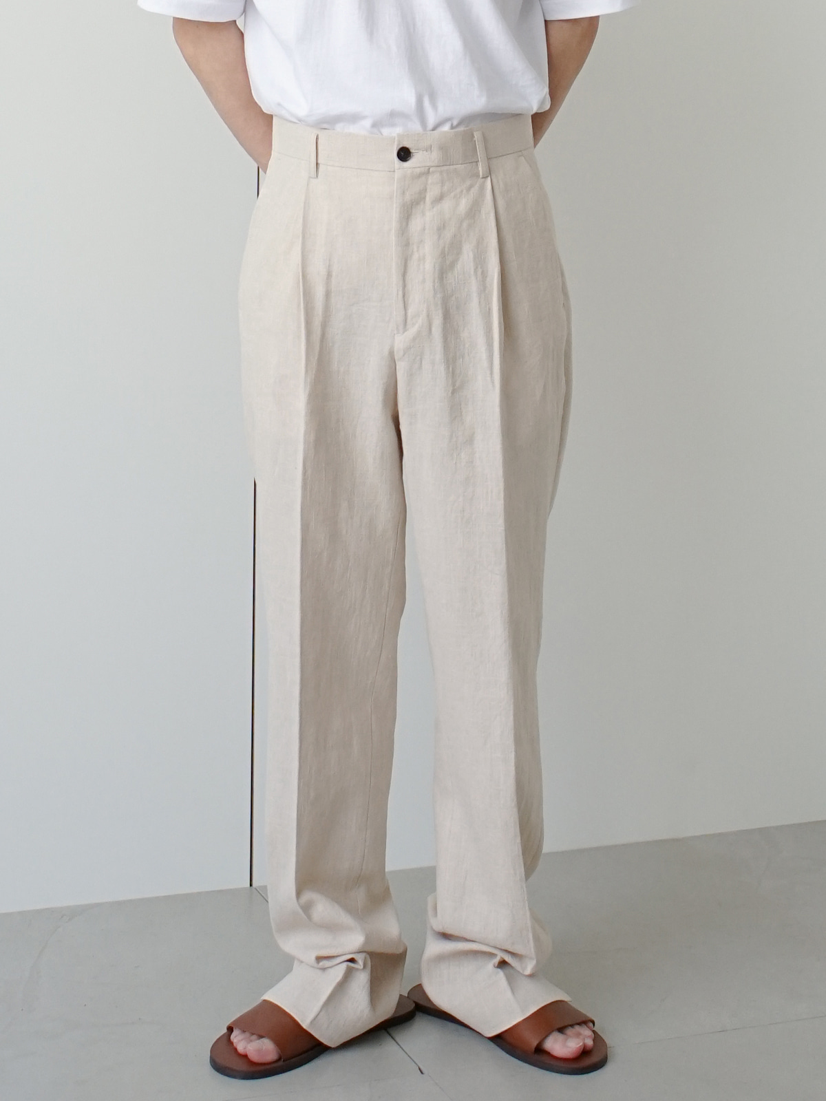 Prody Linen Tuck Trousers (2color)