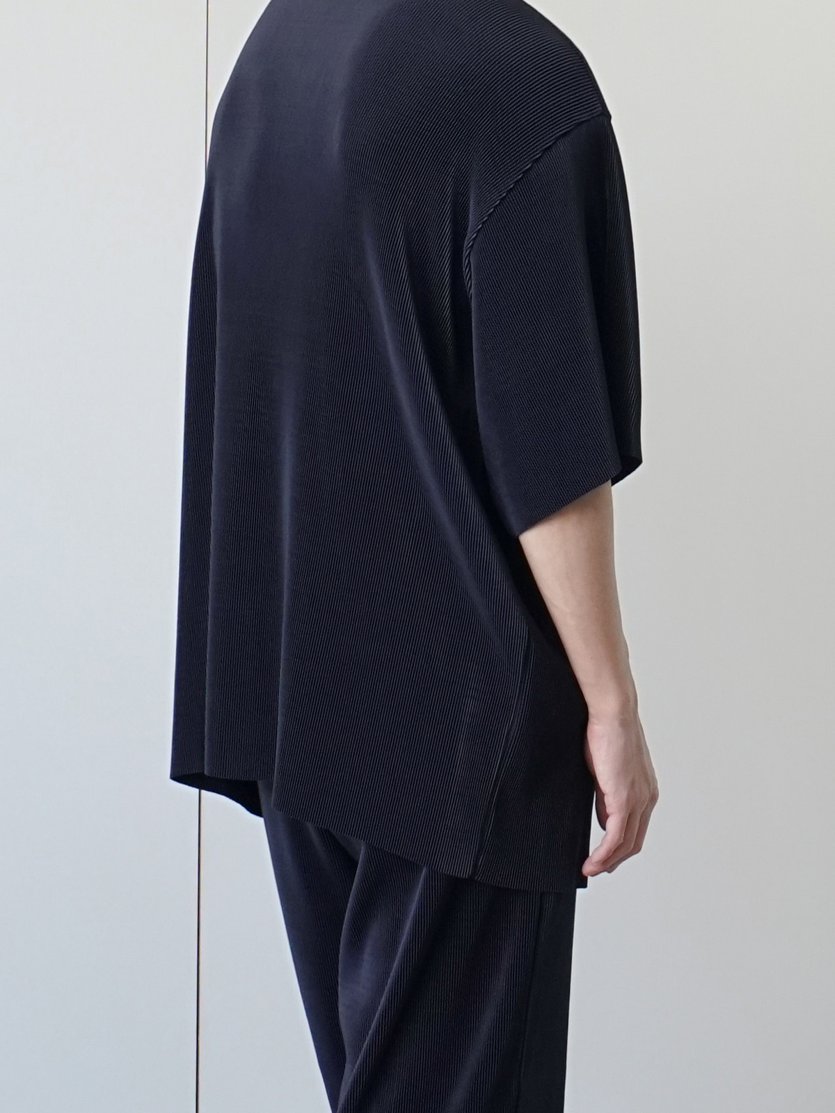 Common Pleats Half Tee (4color)