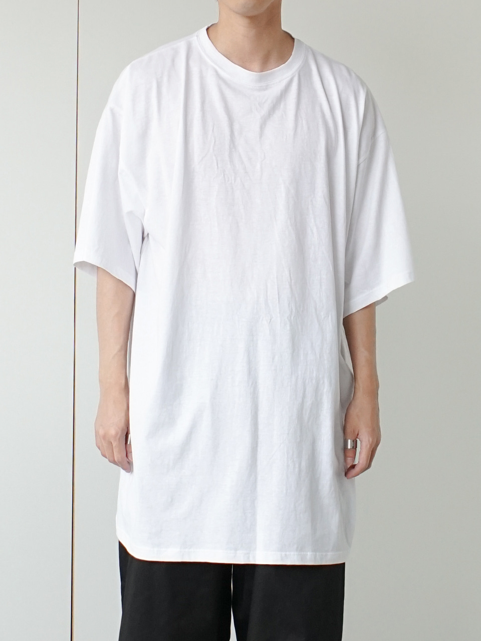 Mation Solid Half Tee (4color)