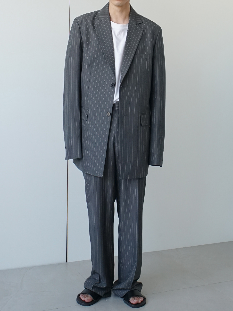 Dela Suit Gray Stripe