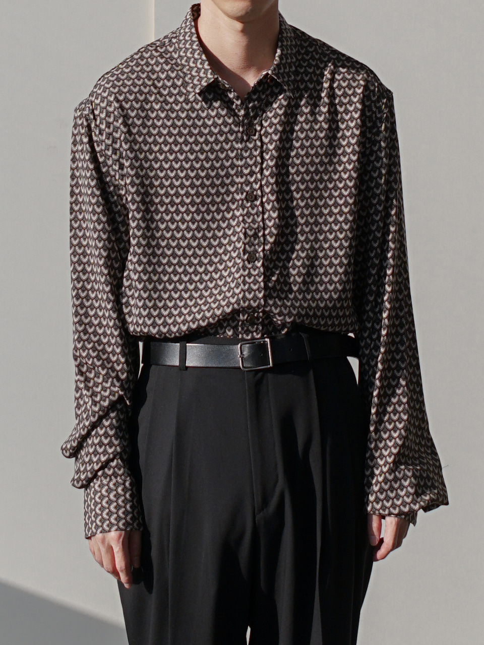 Bon Scale Patterned Shirt (2color)