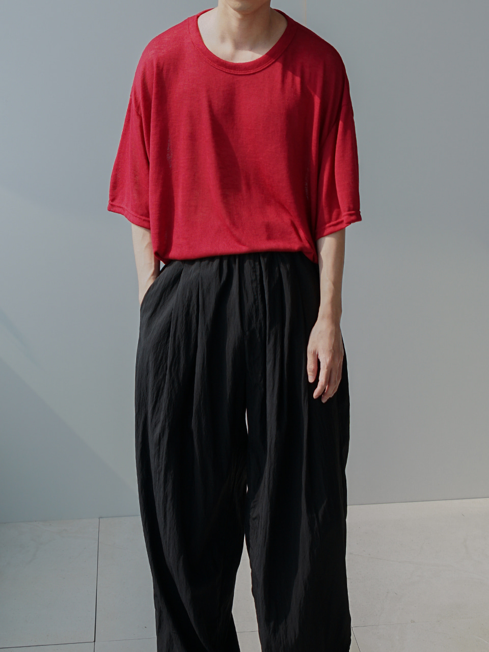 Parts Oversized Half Tee (4color)