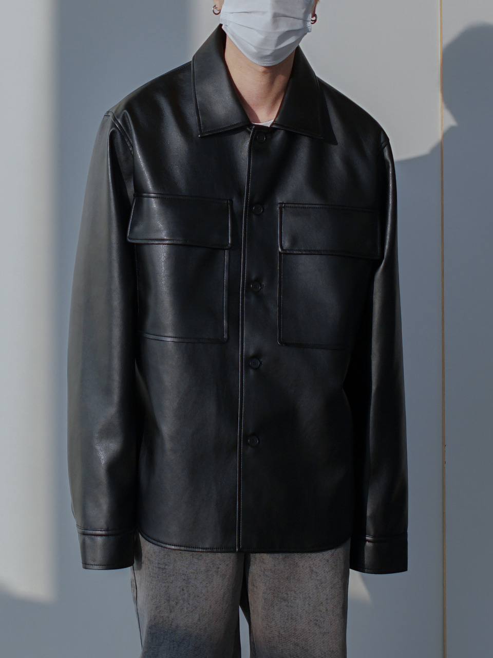 Elliott Leather Shirt Jacket