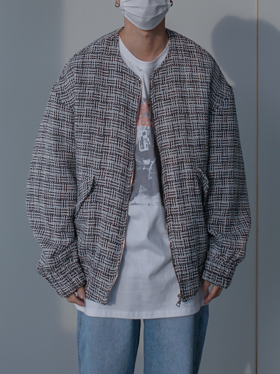Common Tweed Blouson Jacket (2color)