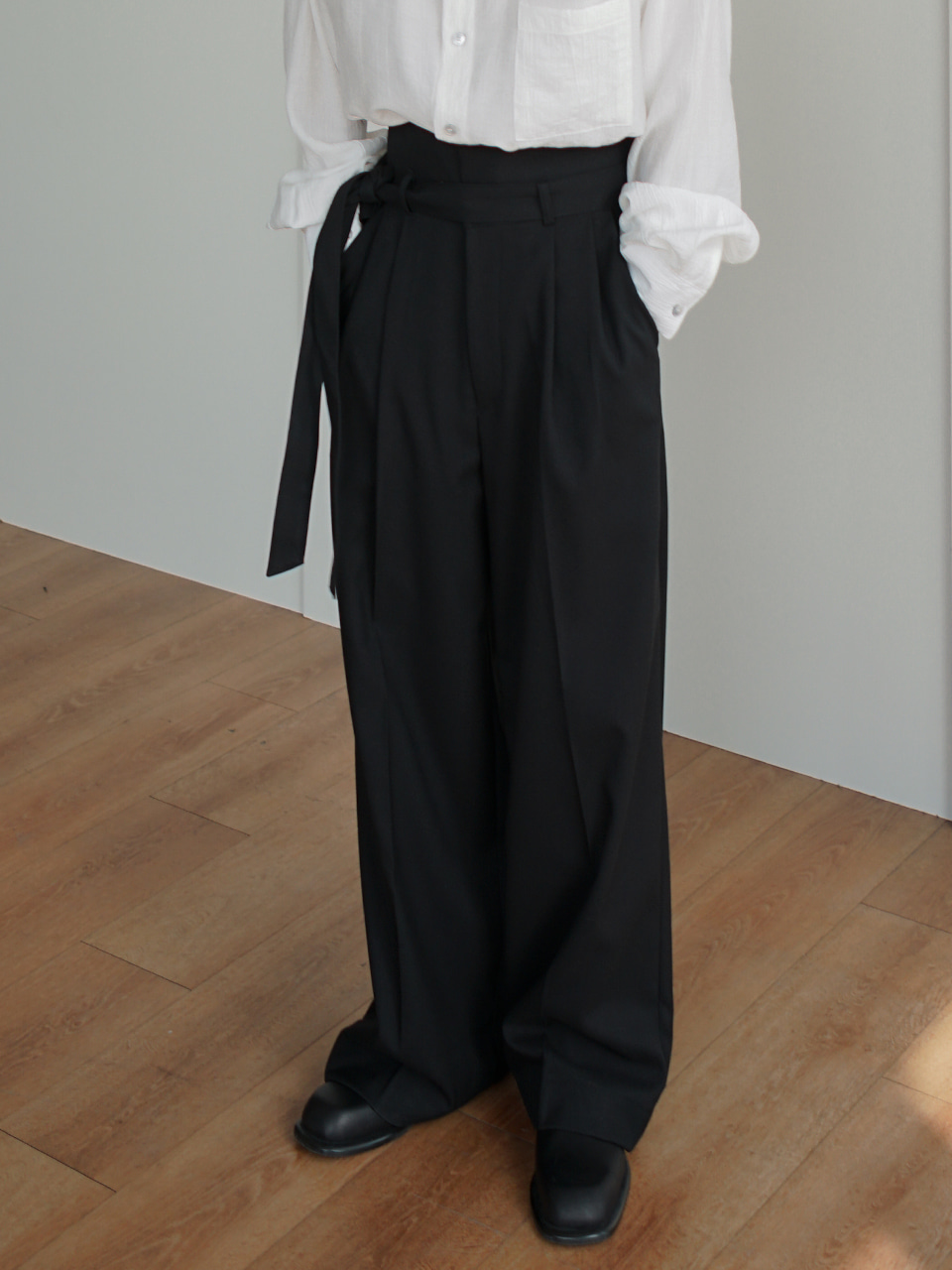 Hest Belted Wide Trousers (2color)