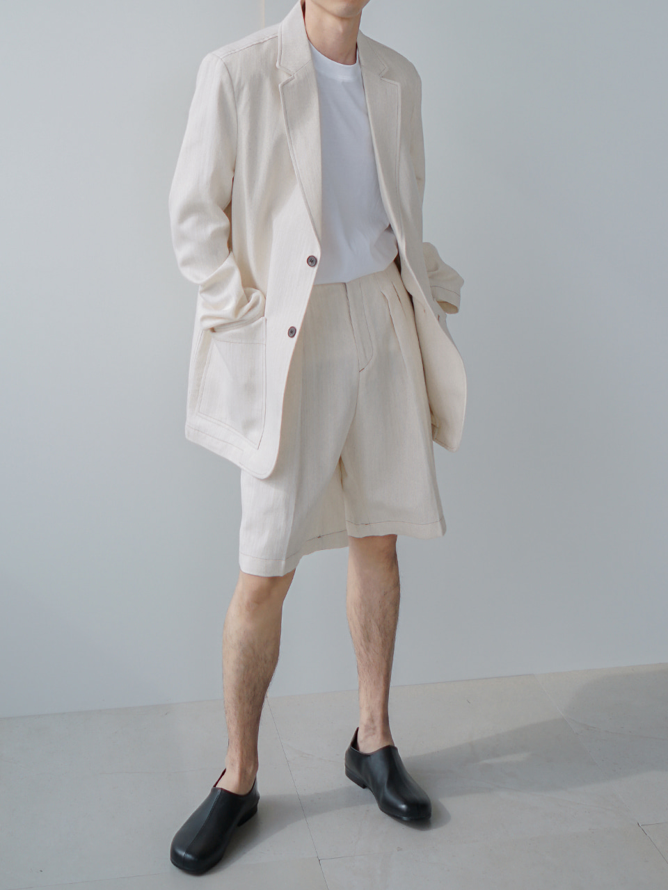 Mighty Cotton-Linen Summer Suit Cream