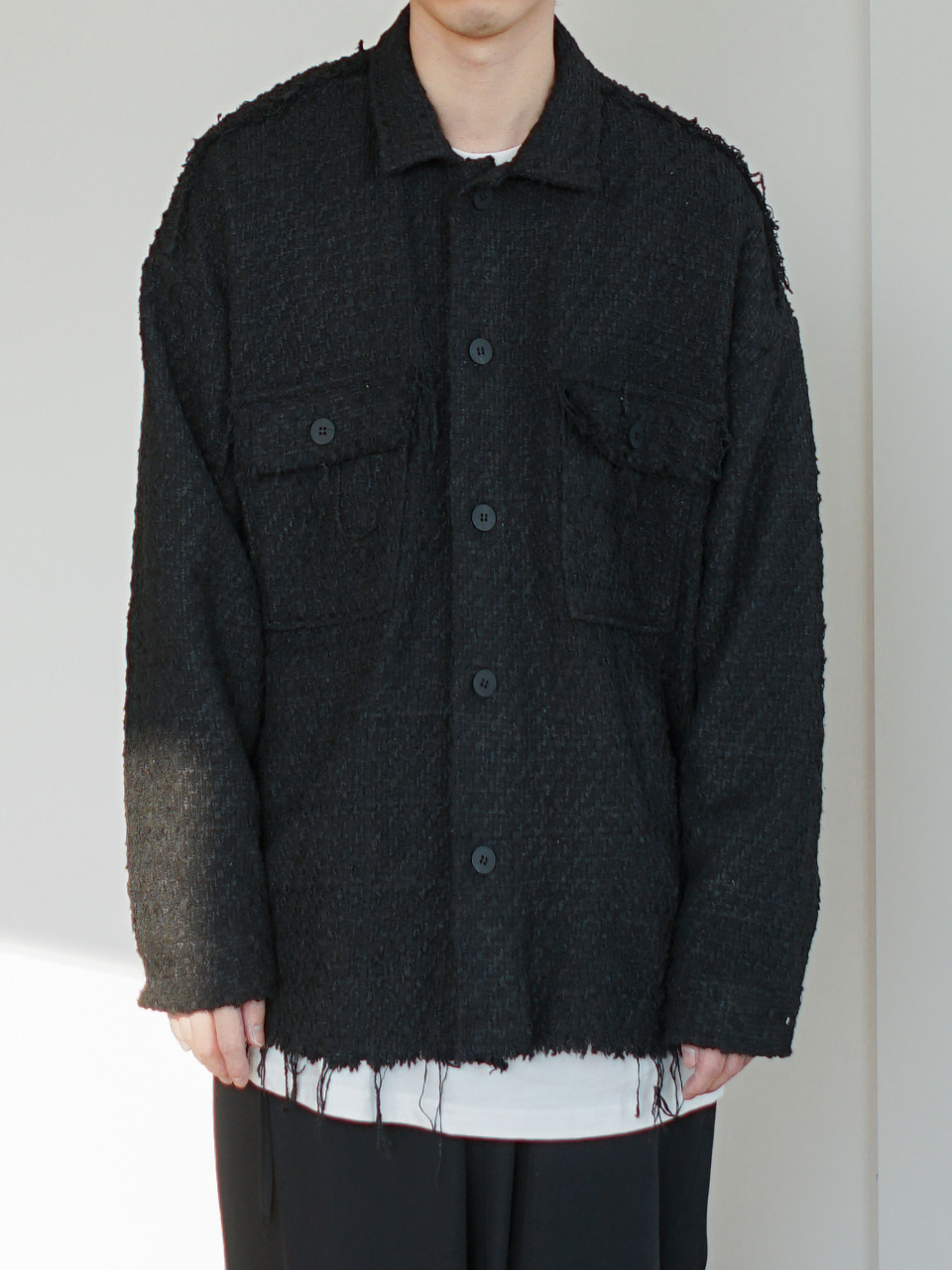 Jacno Tweed Shirt Jacket (2color)