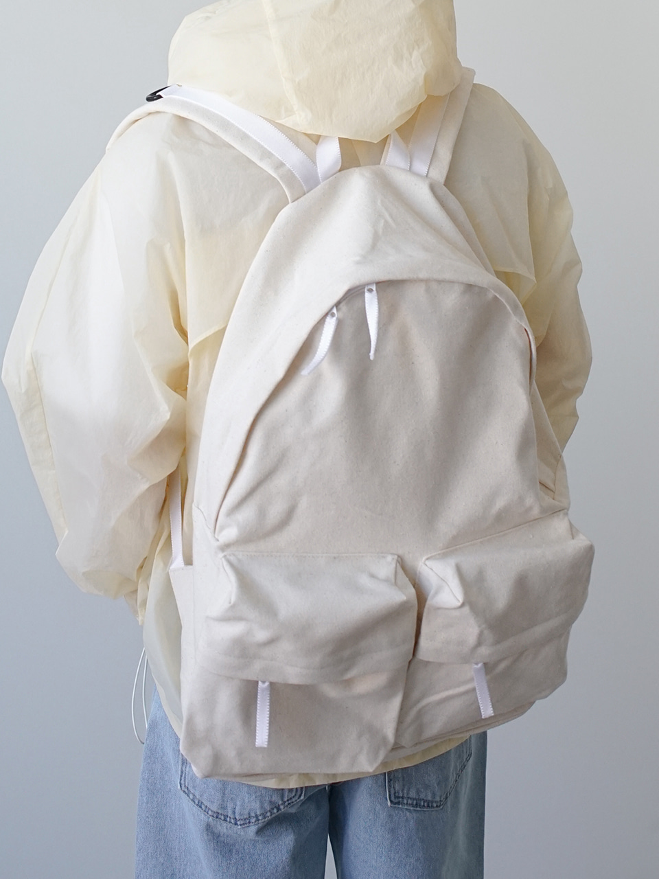 Daily Two Pocket Backpack Ivory