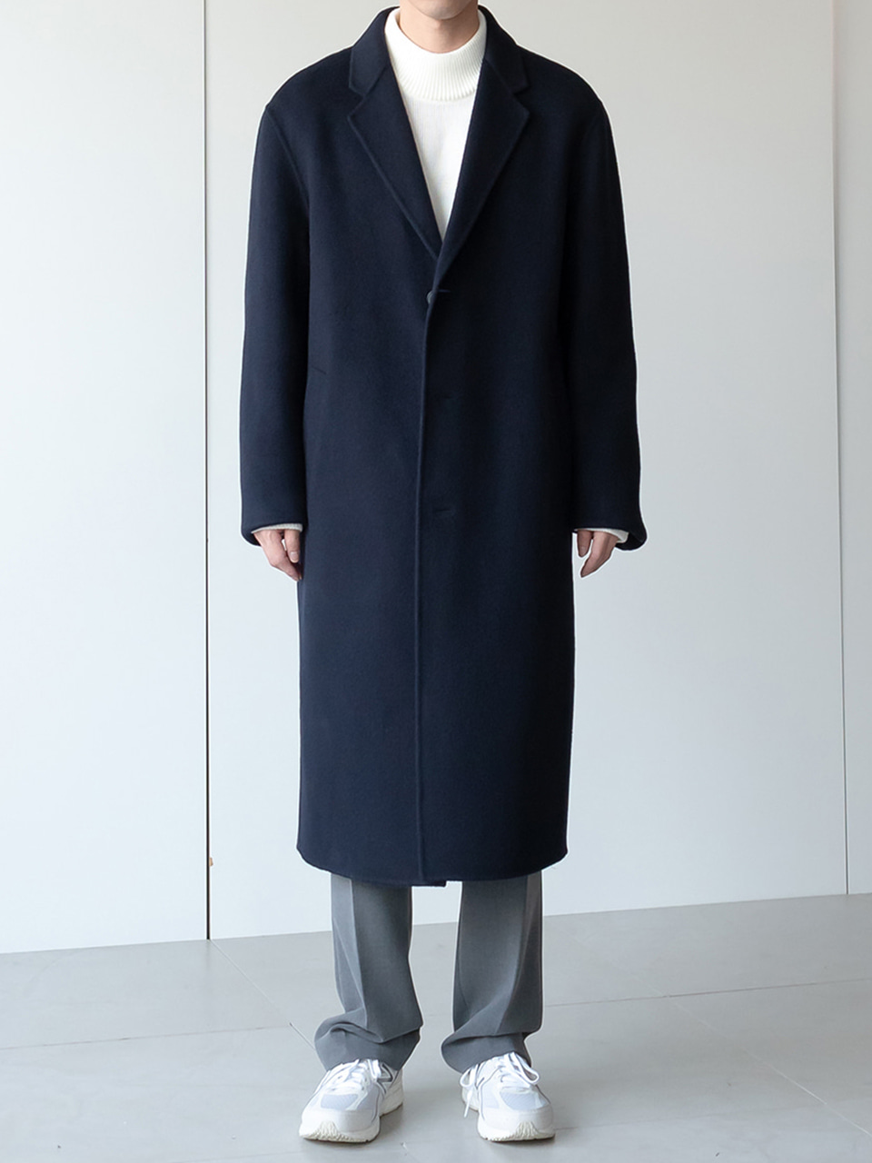 Moonlight Wool Handmade Single Long Coat (5color)