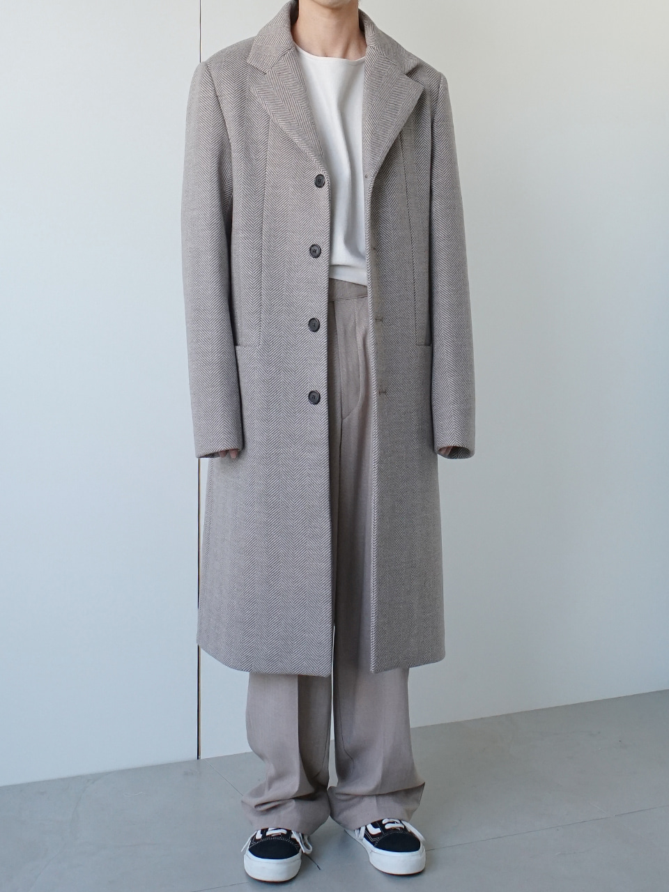 Fred Herringbone Coat (2color)