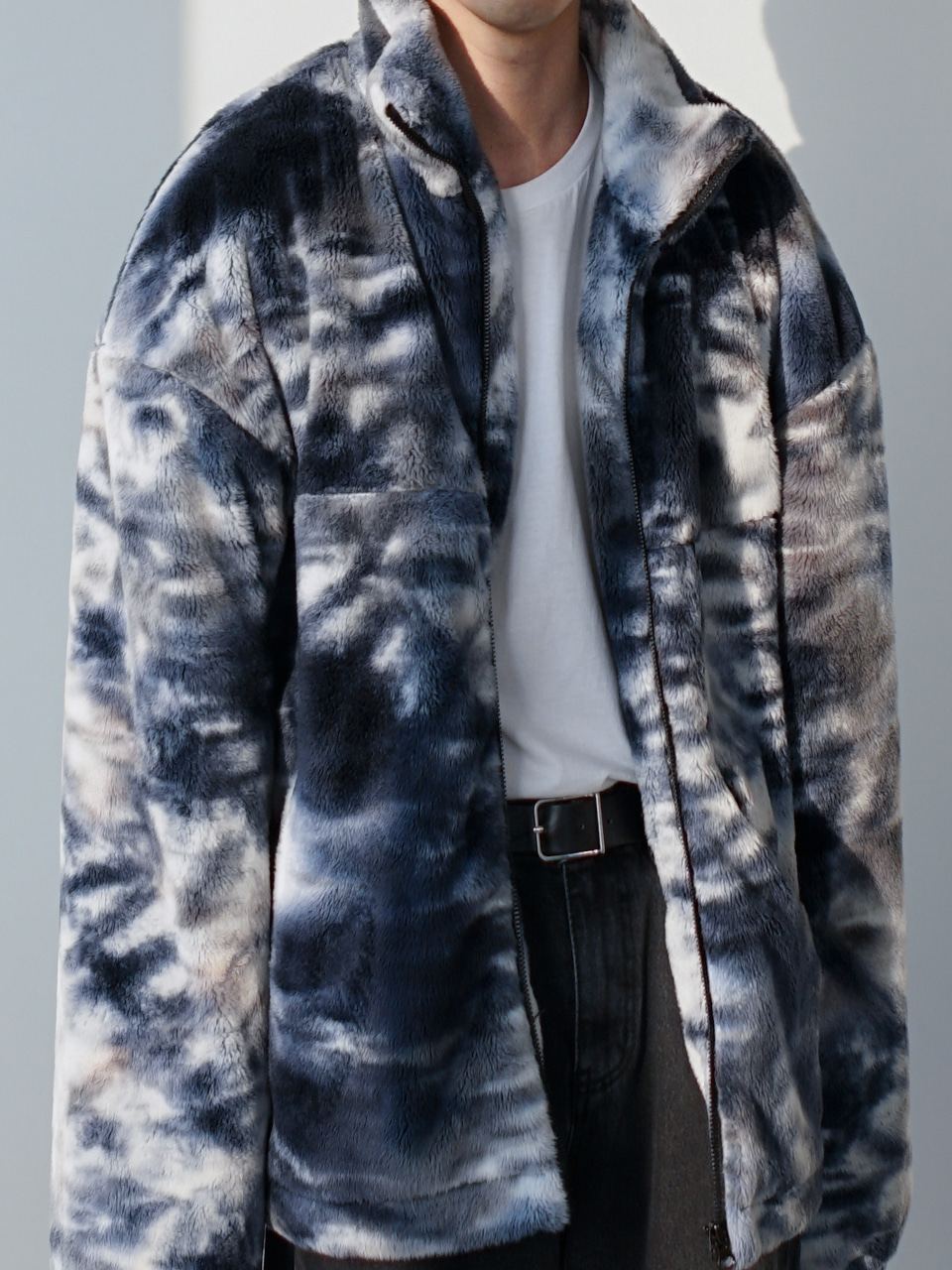 Webster Patterned Fur Jacket (2color)