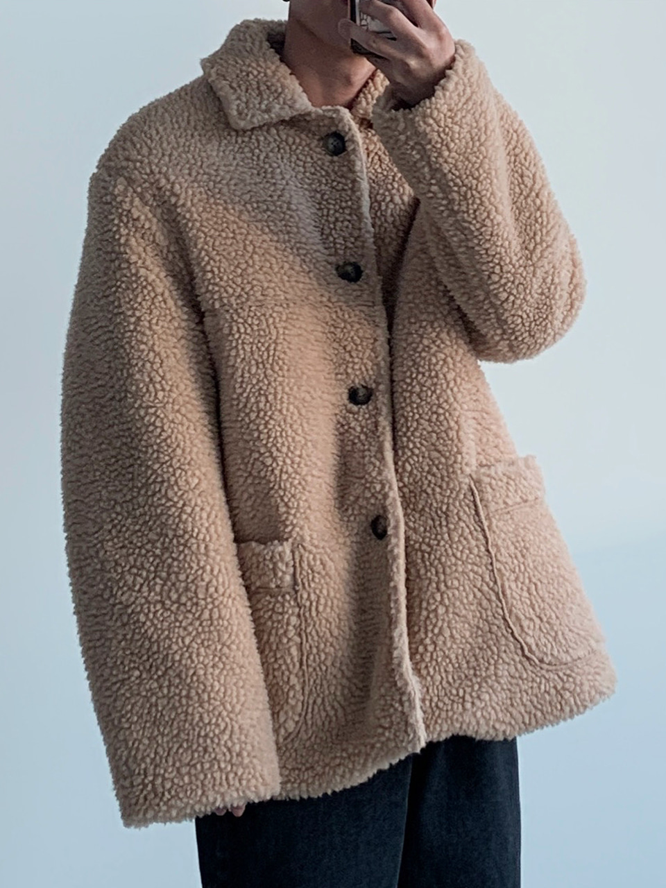 Jack Shearling Jacket (2color)
