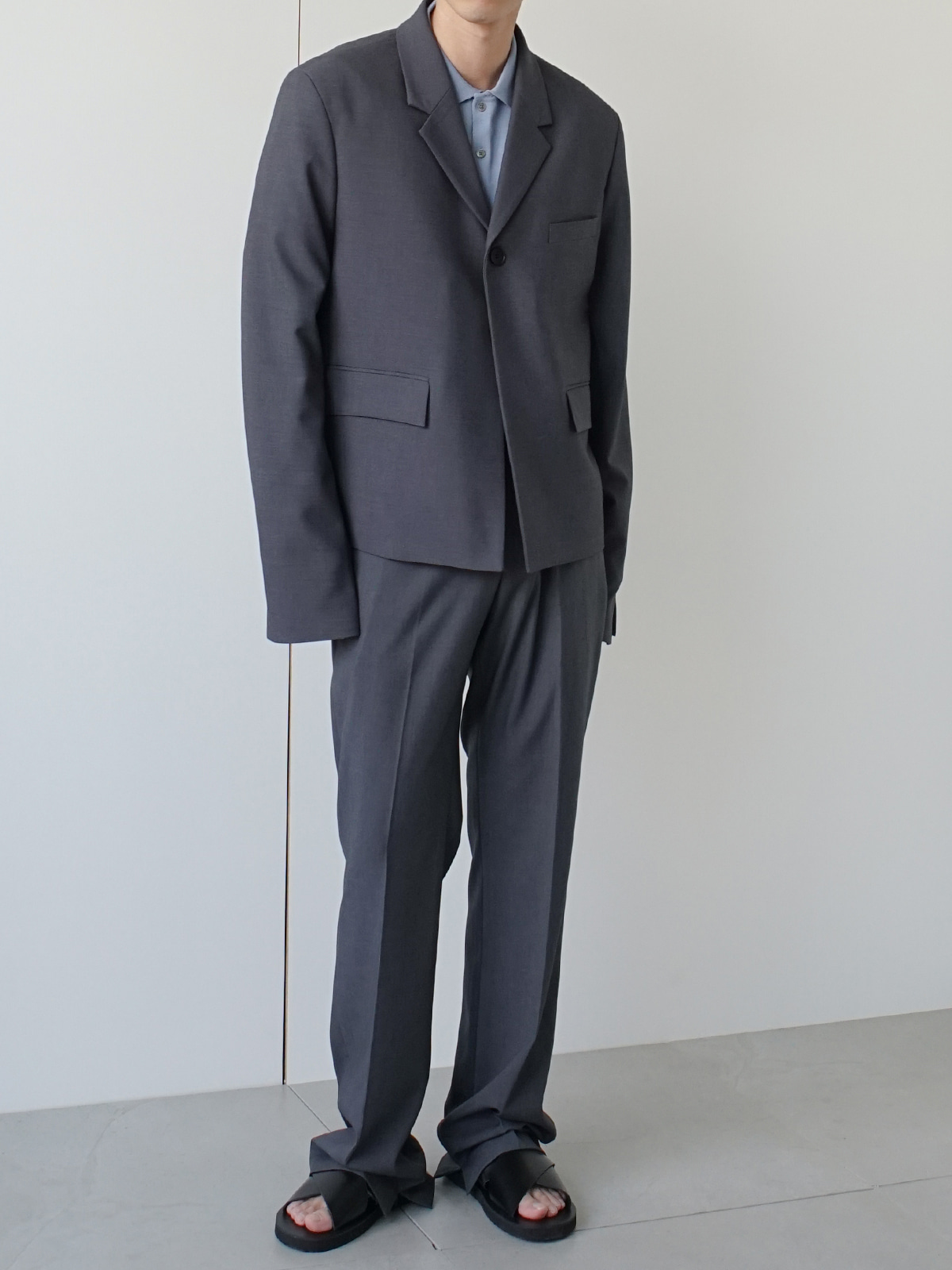 Week Linen Suit Gray