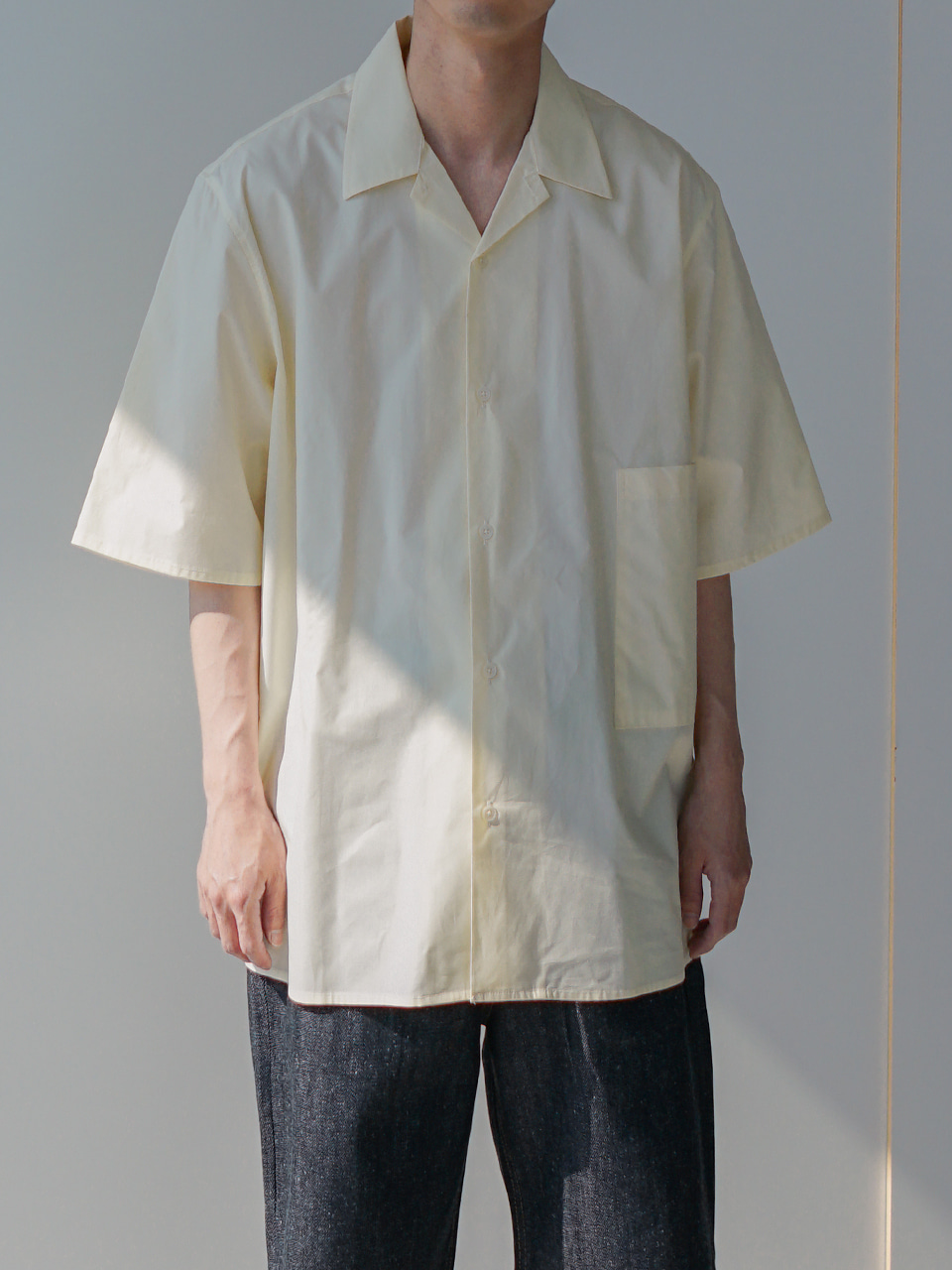 Nostalgia Open Collar Half Shirt (3color)